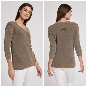 Tyler Boe Mineral Wash Sweater Large NWOT Coffee